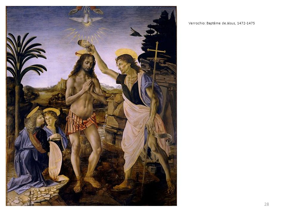 Verrochio: Baptême de Jésus, 1472-1475
