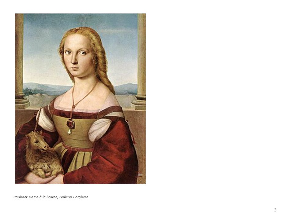 Raphaël: Dame à la licorne, Galleria Borghese