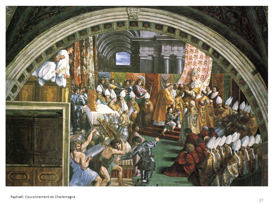 Raphaël: Couronnement de Charlemagne