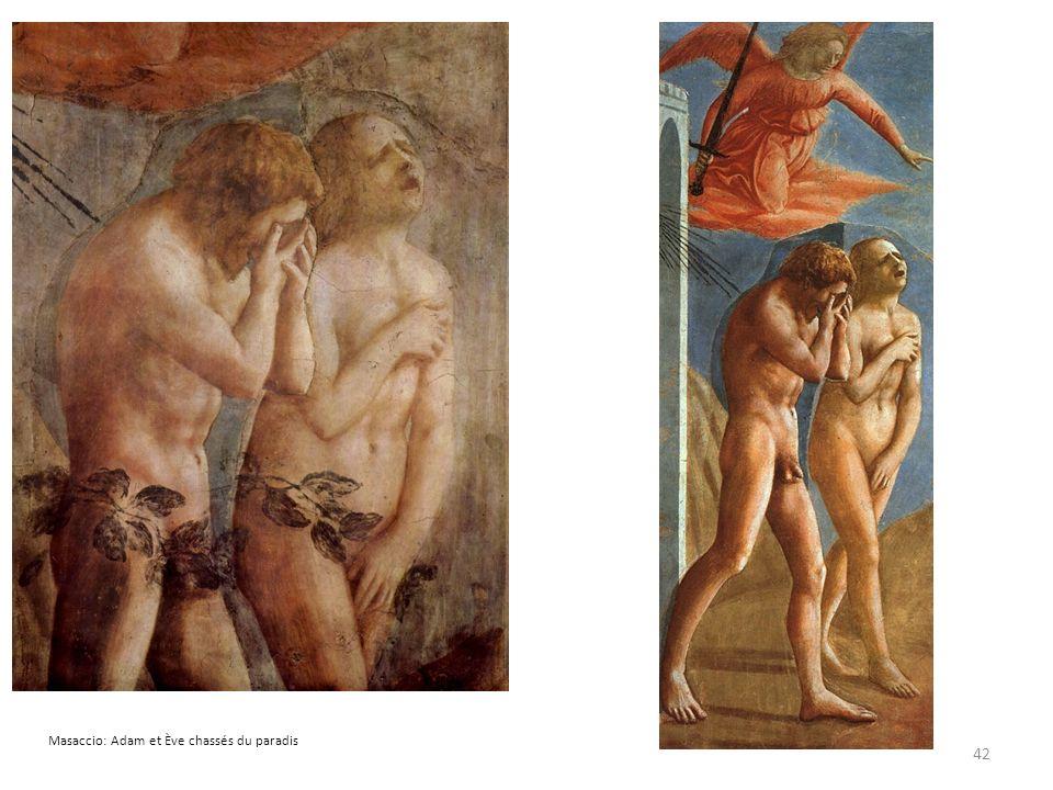 Masaccio: Adam et Ève chassés du paradis