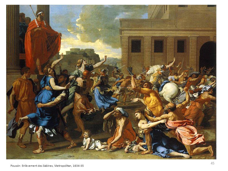 Poussin: Enlèvement des Sabines, Metropolitan, 1634-35