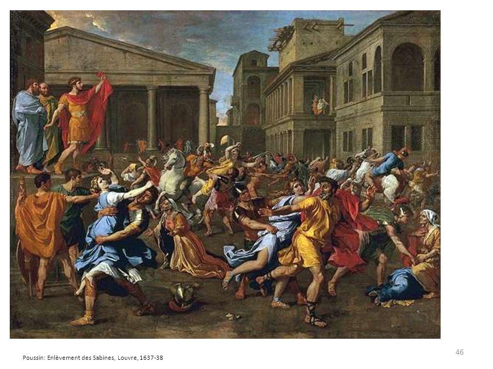 Poussin: Enlèvement des Sabines, Louvre, 1637-38