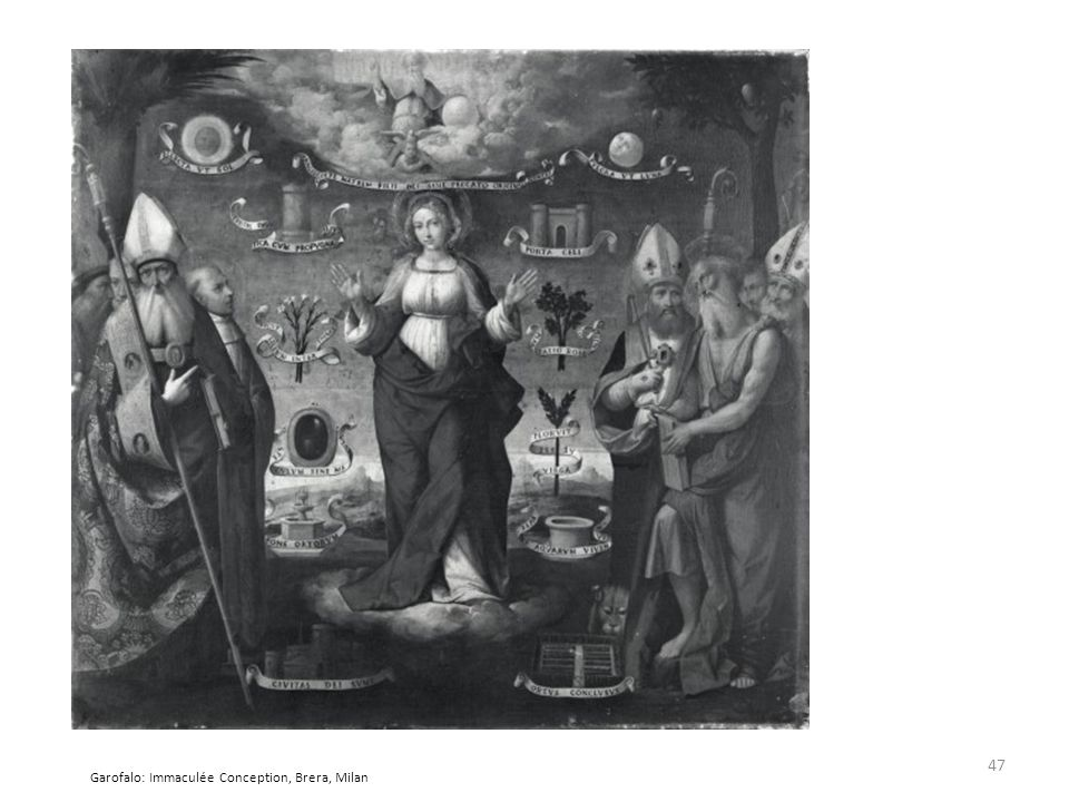 Garofalo: Immaculée Conception, Brera, Milan