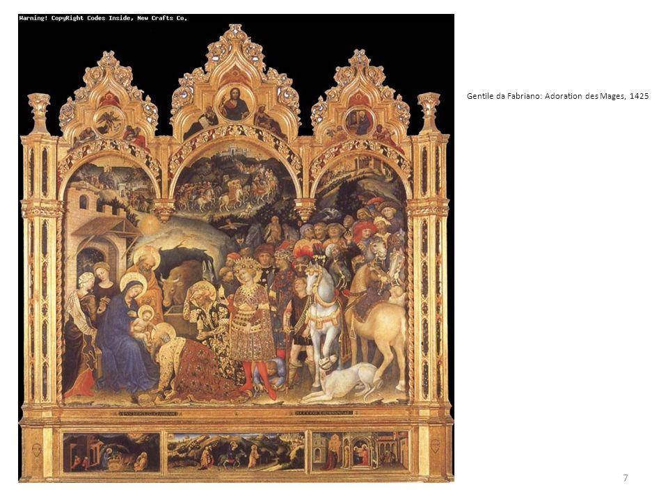 Gentile da Fabriano: Adoration des Mages, 1425