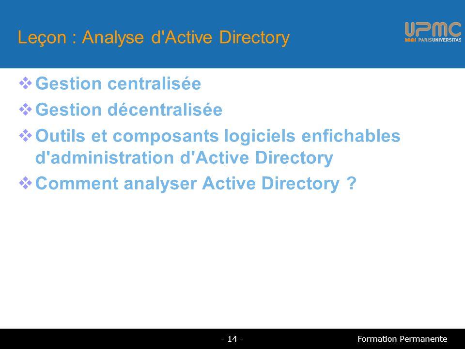 Leçon : Analyse d Active Directory