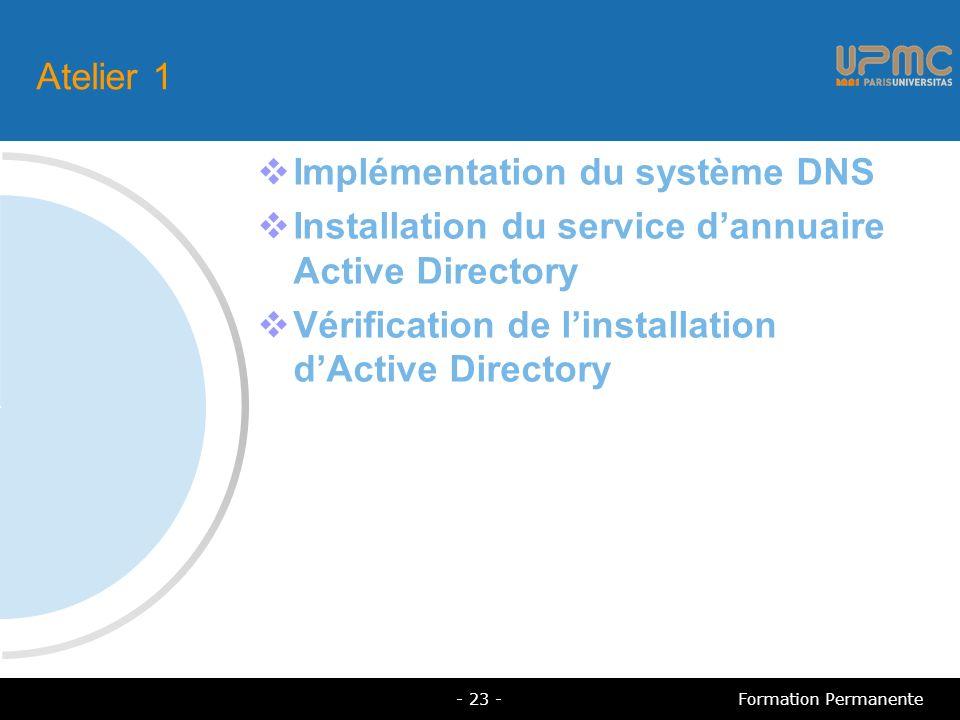 Implémentation du système DNS