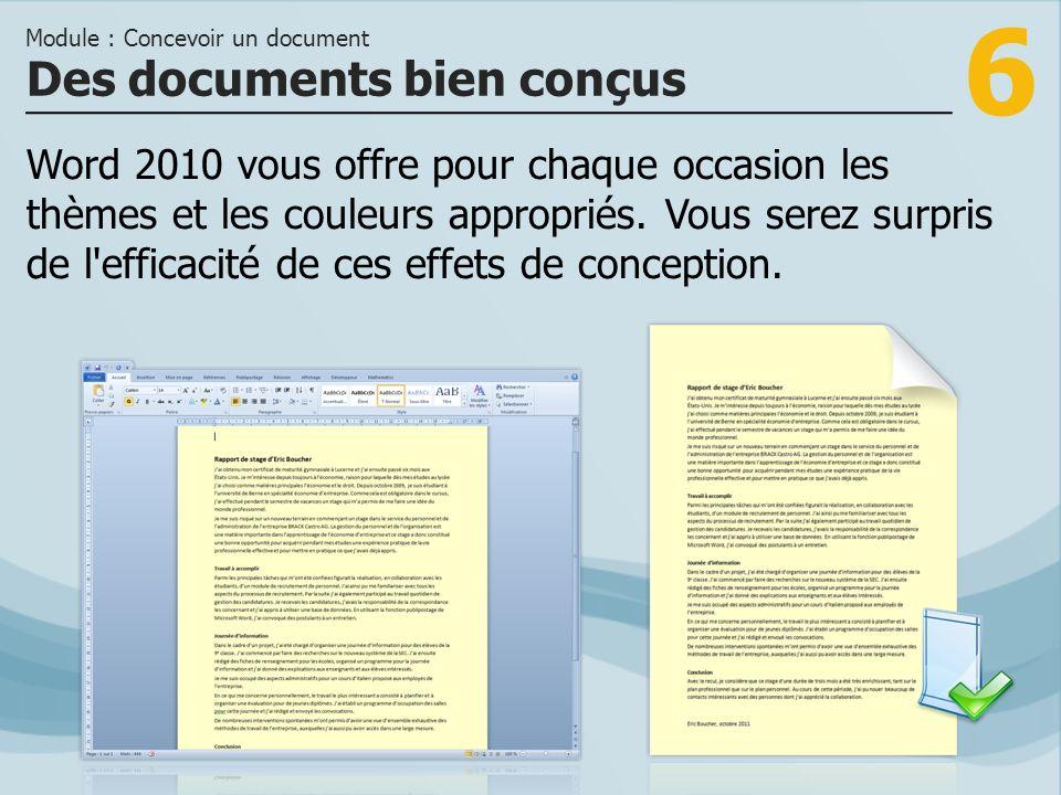 Des documents bien conçus