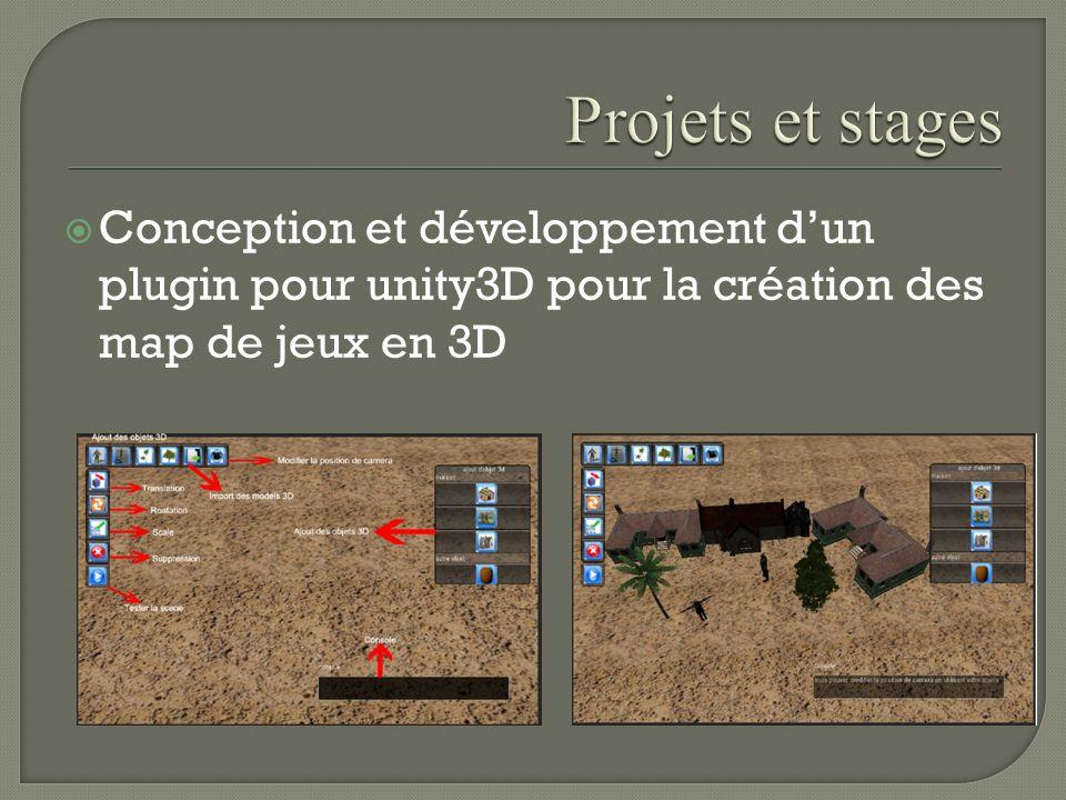Projets et stages Conception et développement d'un plugin pour unity3D pour la création des map de jeux en 3D.