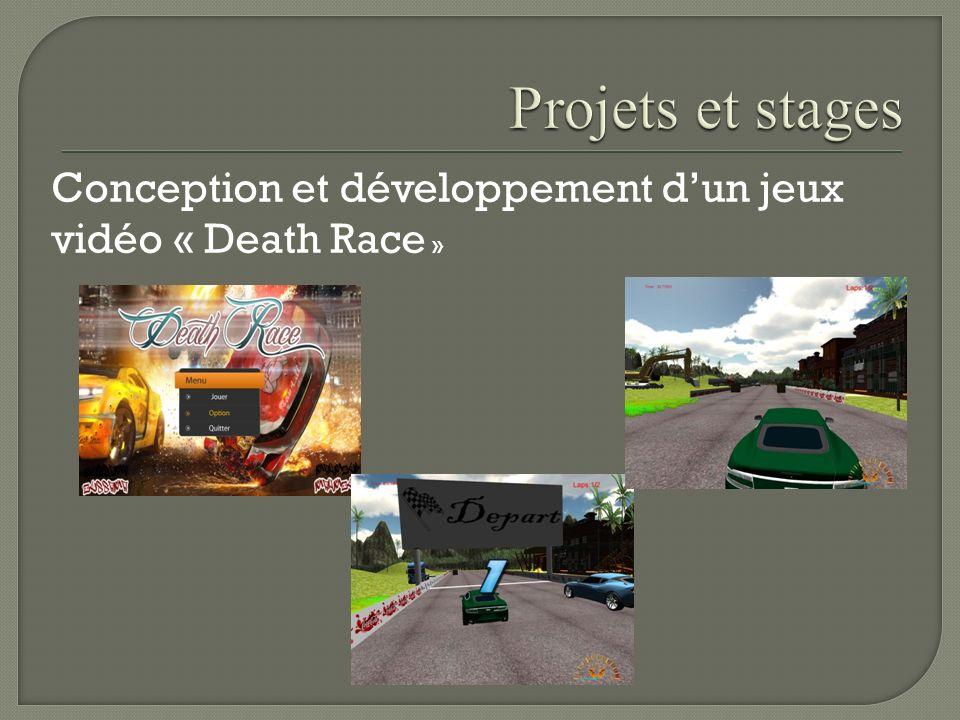 Projets et stages Conception et développement d'un jeux