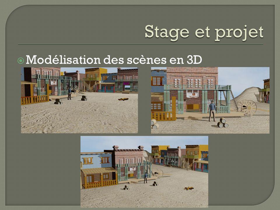 Stage et projet Modélisation des scènes en 3D