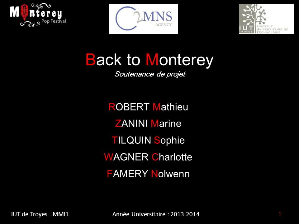 Back to Monterey Soutenance de projet