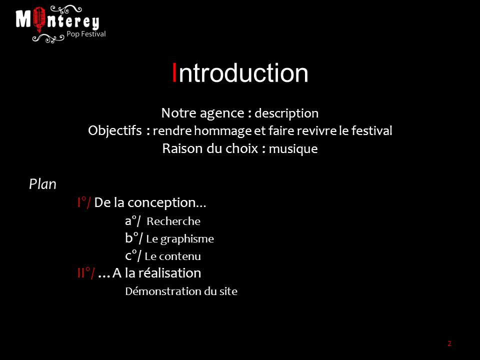 Introduction Plan Notre agence : description