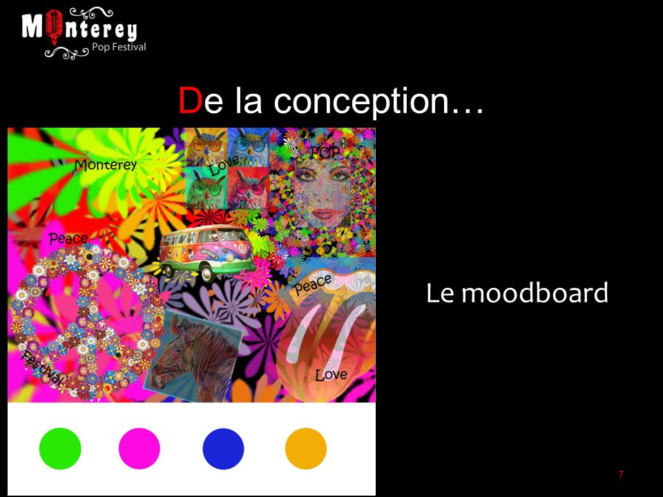 De la conception… Le moodboard