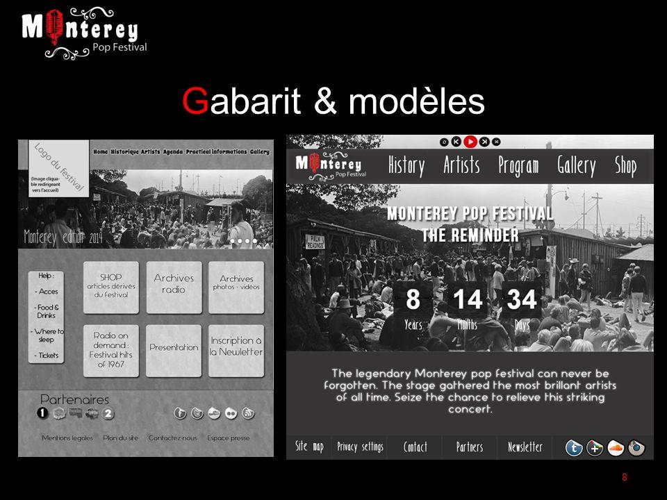 Gabarit & modèles