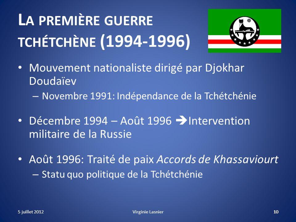 La première guerre tchétchène (1994-1996)