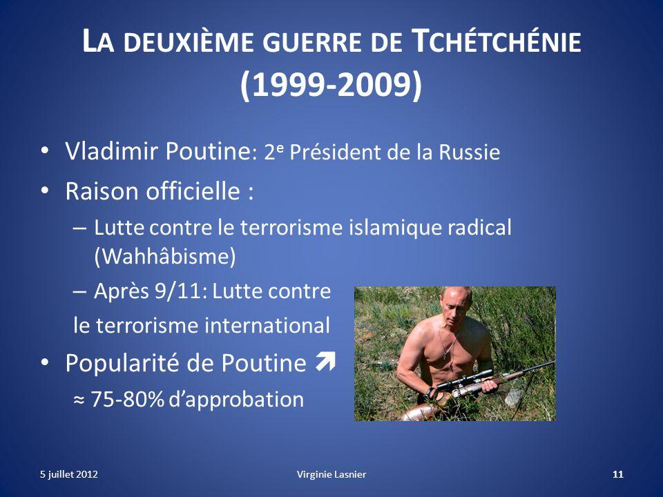 La deuxième guerre de Tchétchénie (1999-2009)
