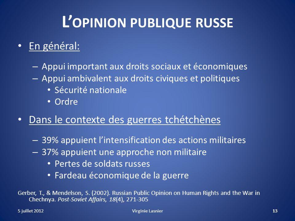 L'opinion publique russe