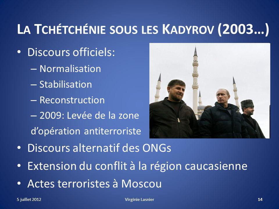 La Tchétchénie sous les Kadyrov (2003…)