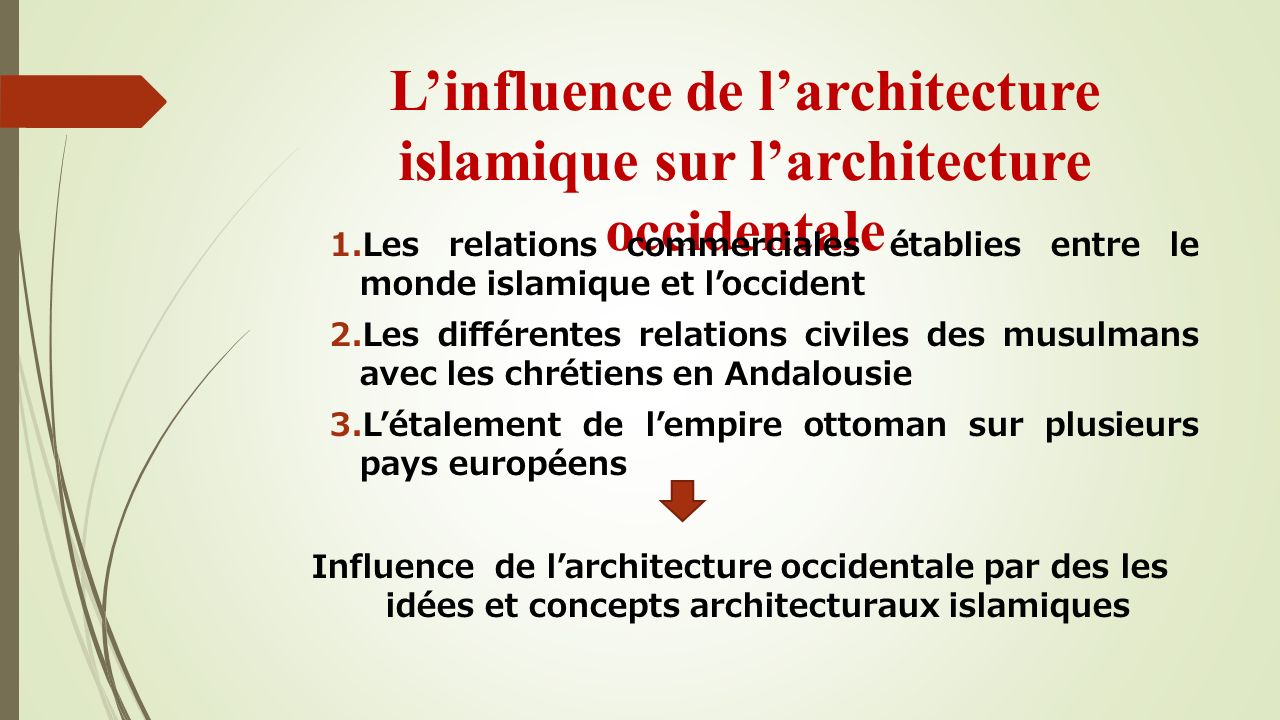L'influence de l'architecture islamique sur l'architecture occidentale