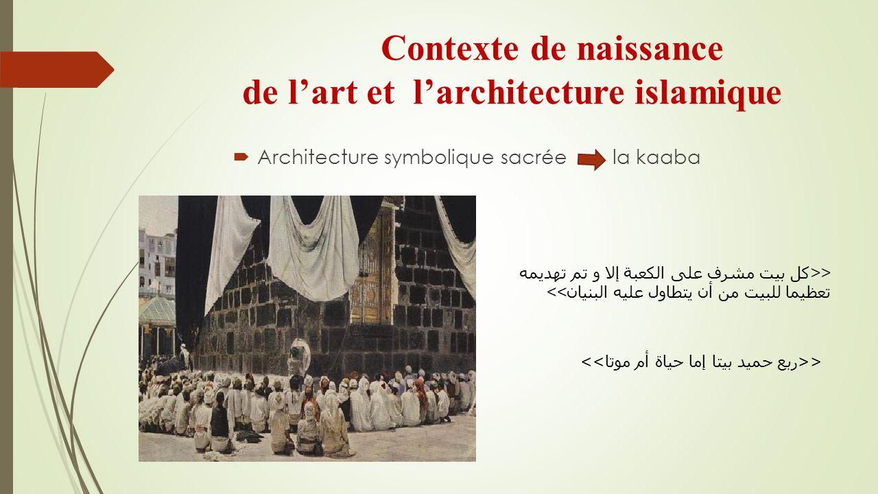 Contexte de naissance de l'art et l'architecture islamique