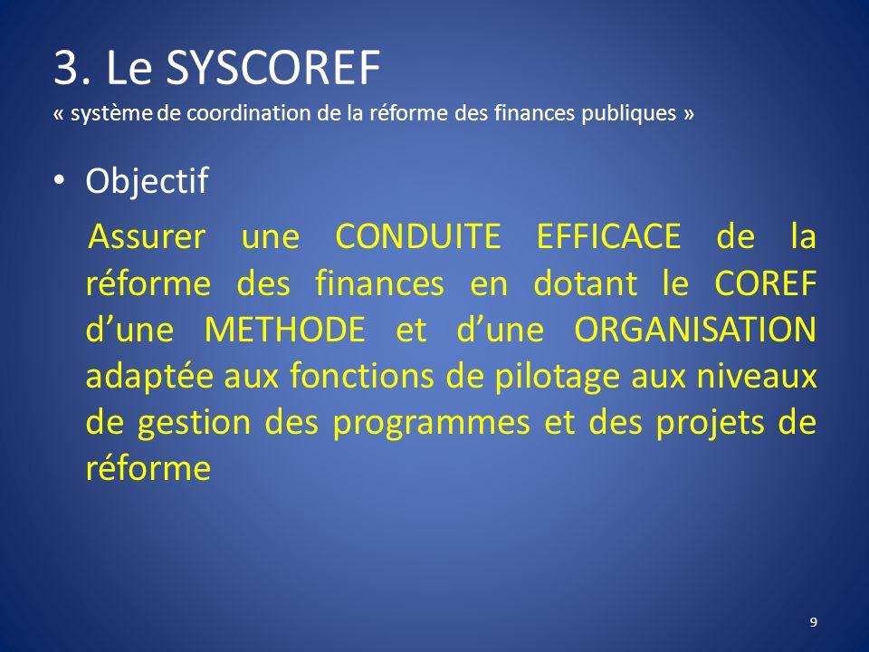 3. Le SYSCOREF « système de coordination de la réforme des finances publiques »