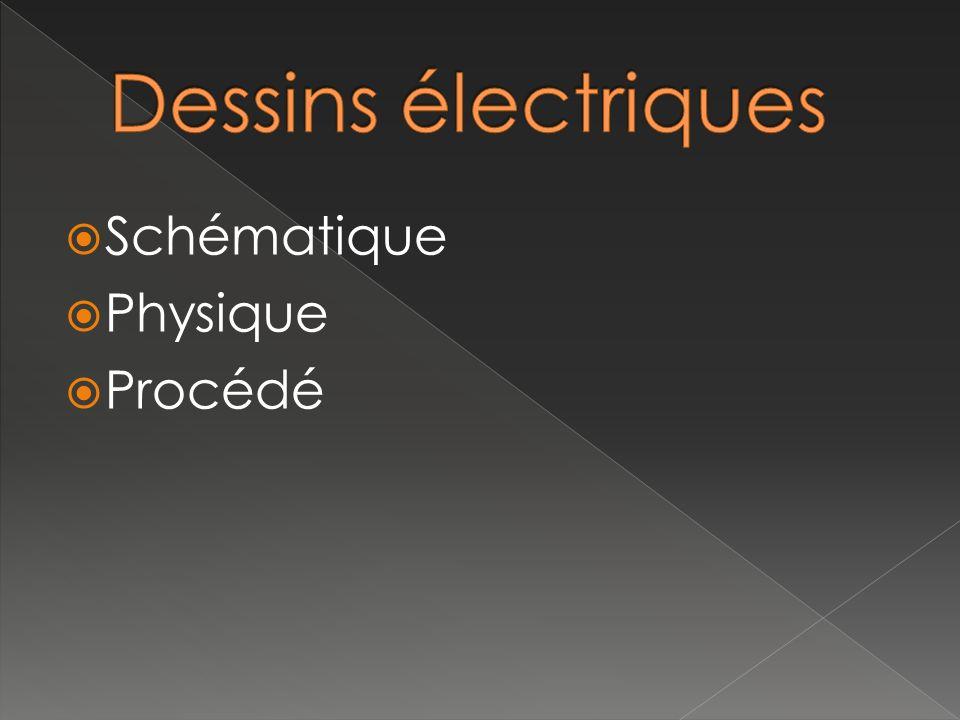 Dessins électriques Schématique Physique Procédé