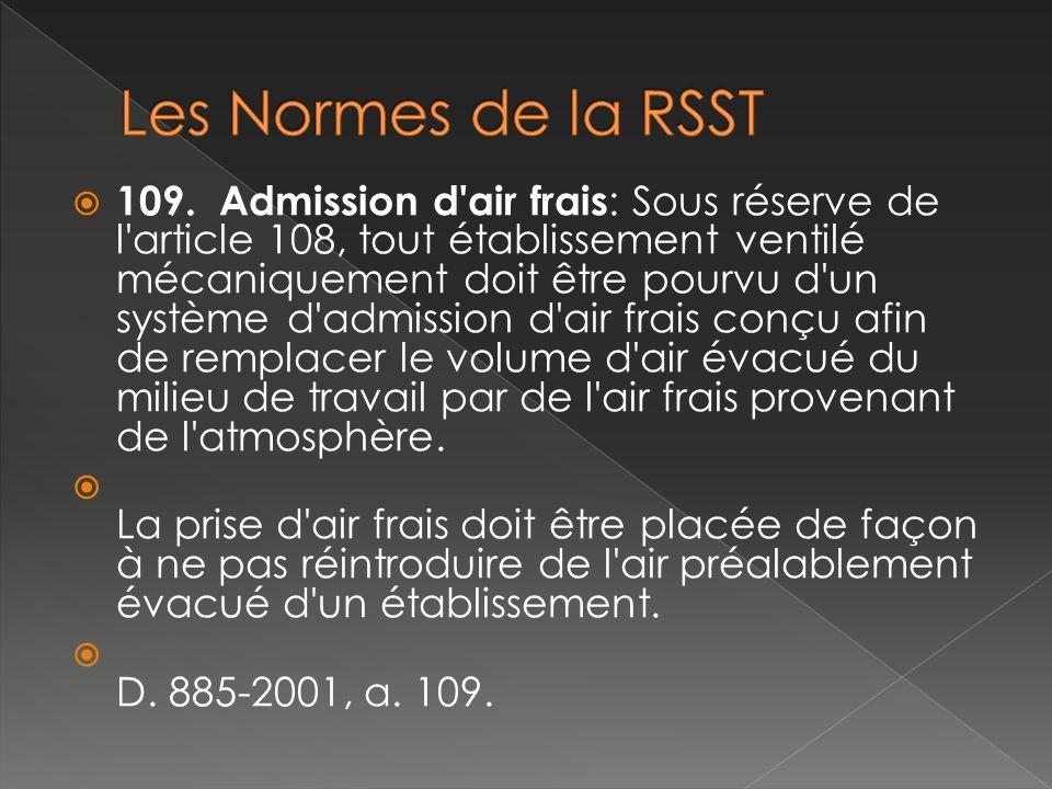 Les Normes de la RSST