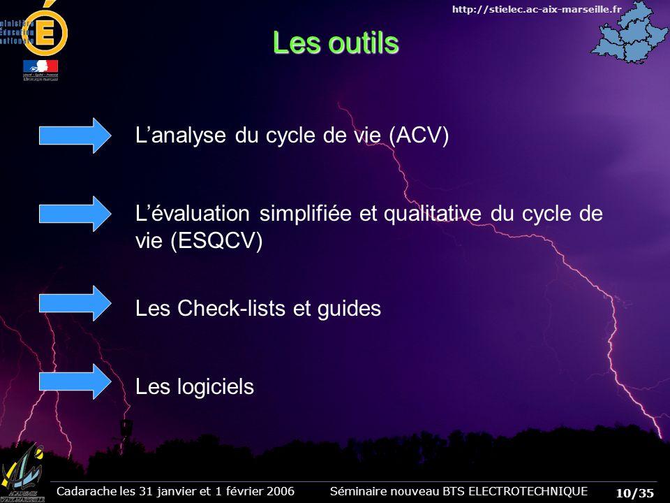 Les outils L'analyse du cycle de vie (ACV)