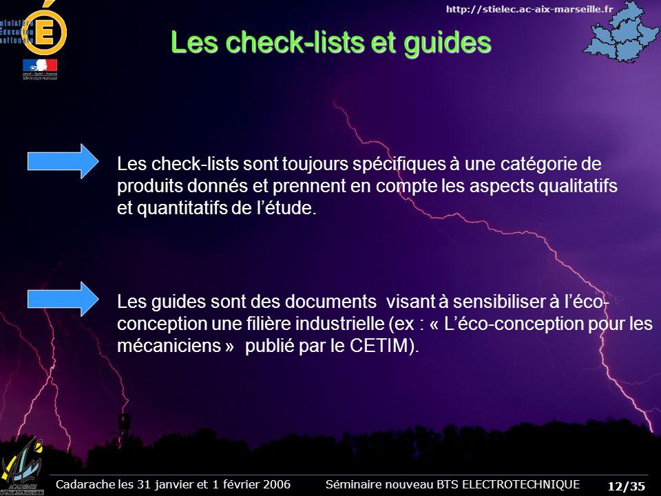 Les check-lists et guides