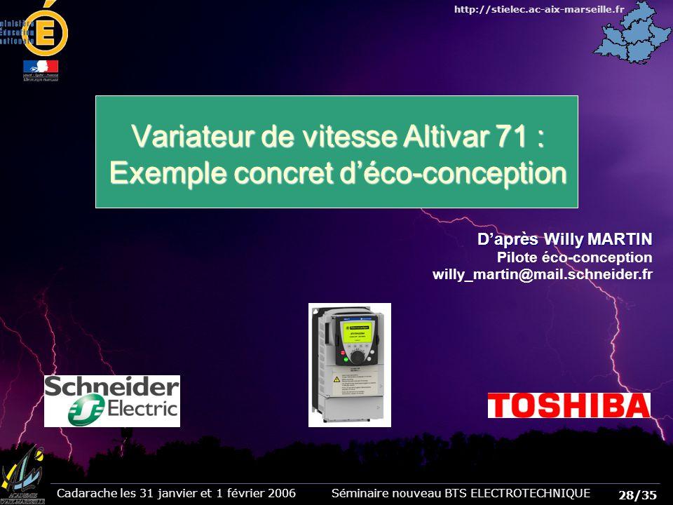 Variateur de vitesse Altivar 71 : Exemple concret d'éco-conception