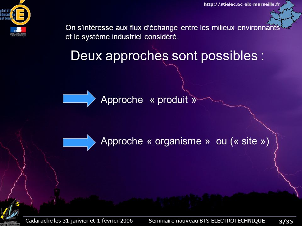 Deux approches sont possibles :