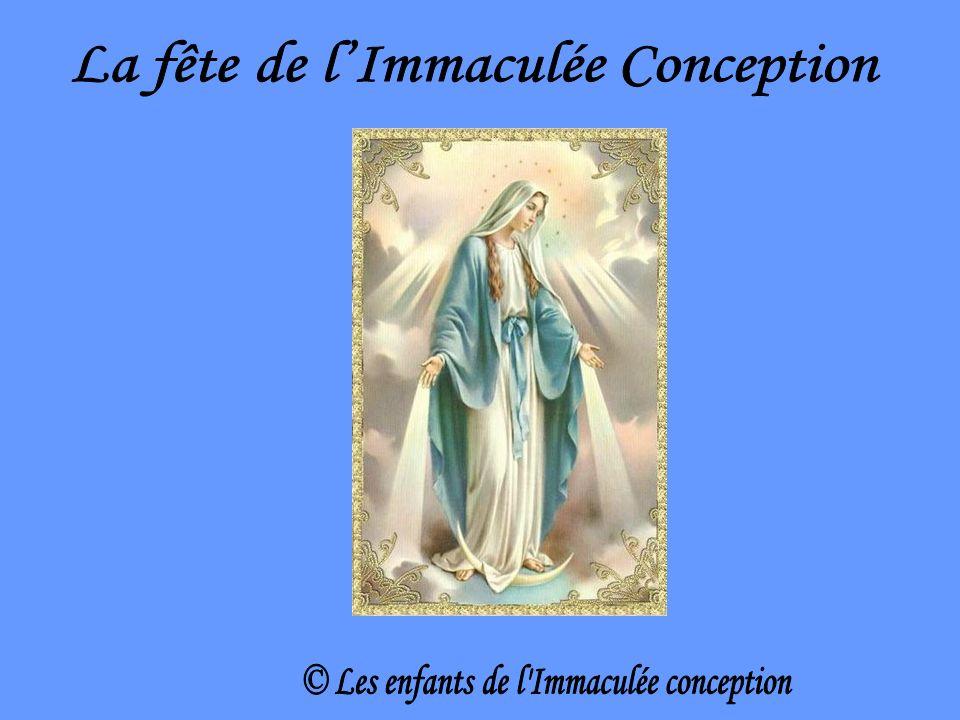 La fête de l'Immaculée Conception