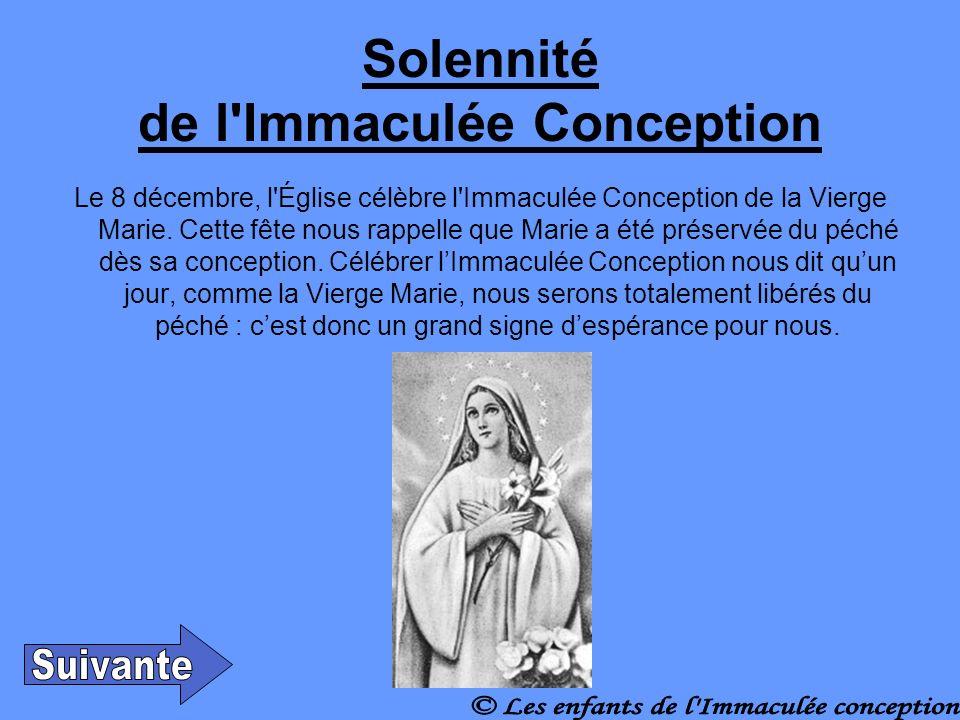 Solennité de l Immaculée Conception