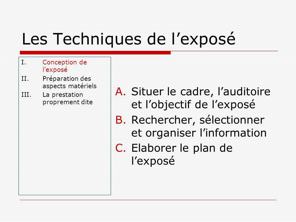 Les Techniques de l'exposé