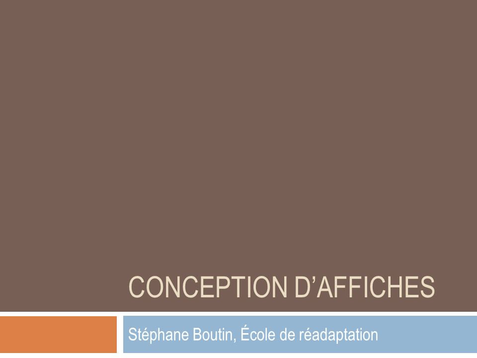 Conception d'affiches