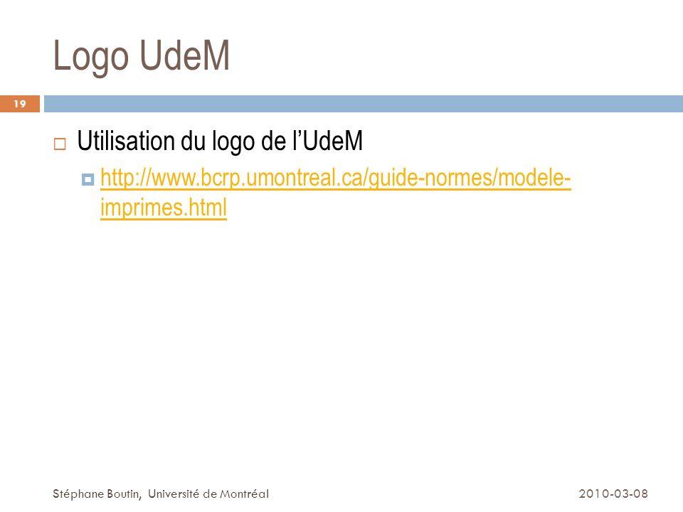 Logo UdeM Utilisation du logo de l'UdeM