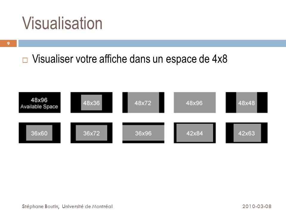 Visualisation Visualiser votre affiche dans un espace de 4x8