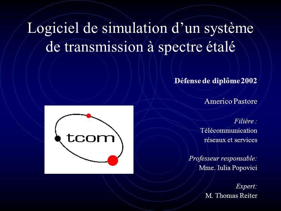 Logiciel de simulation d'un système de transmission à spectre étalé