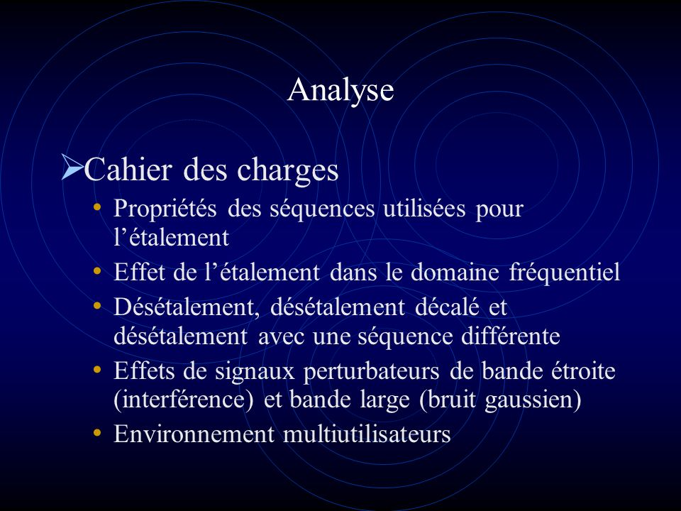 Analyse Cahier des charges