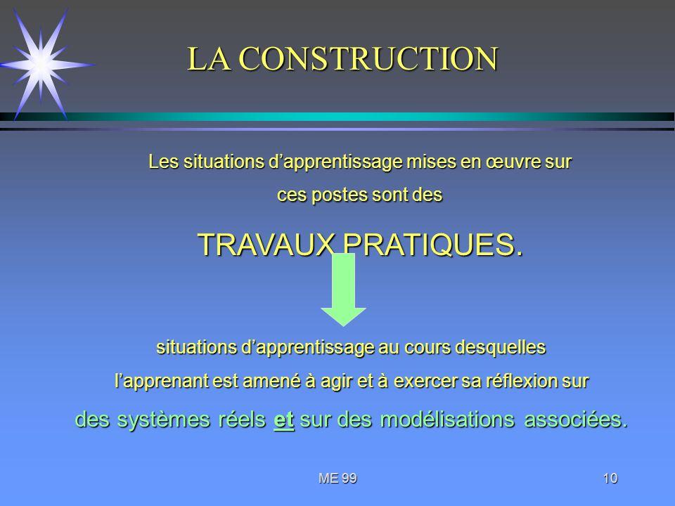 LA CONSTRUCTION TRAVAUX PRATIQUES.