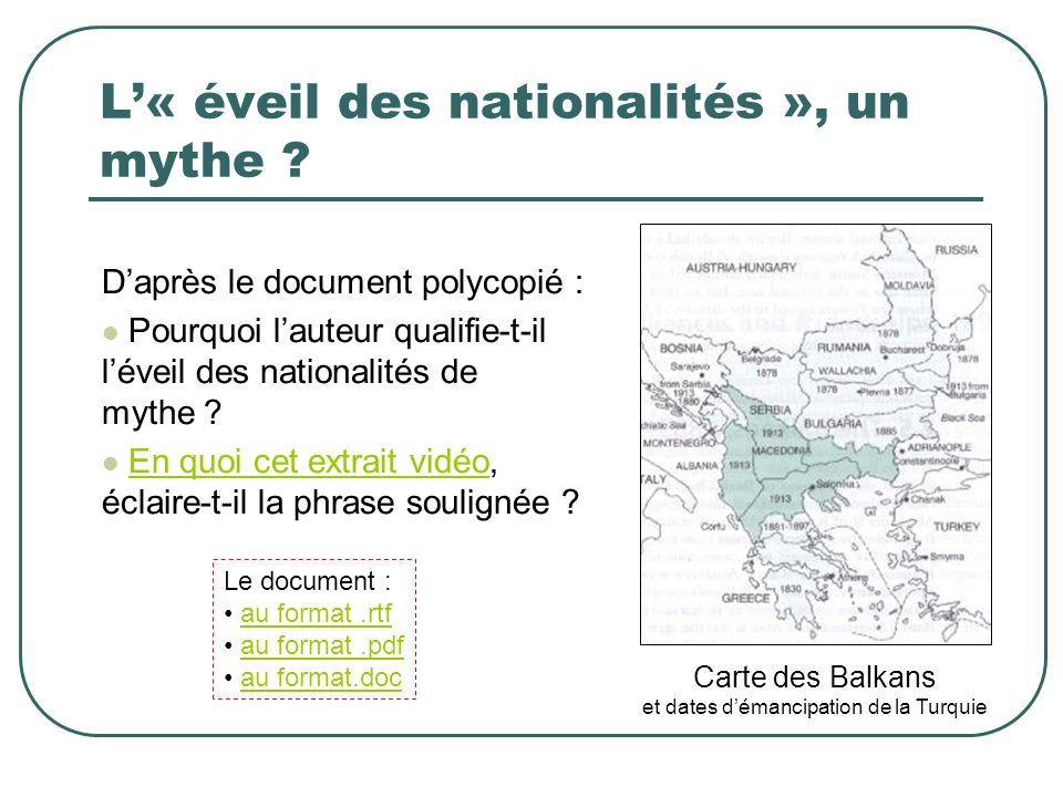 L'« éveil des nationalités », un mythe