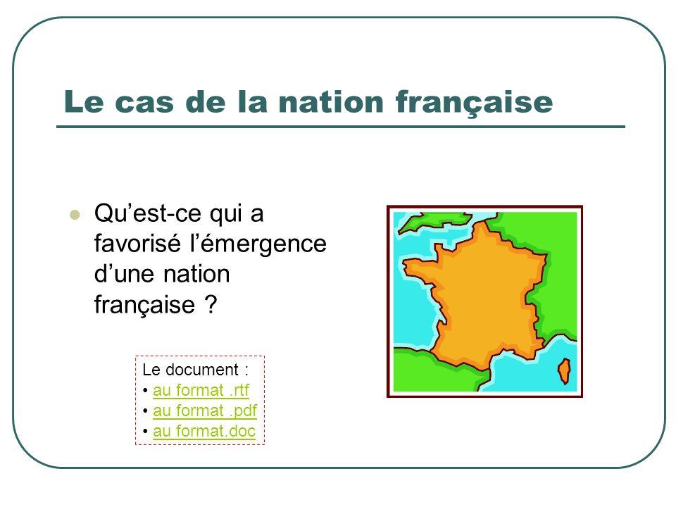Le cas de la nation française