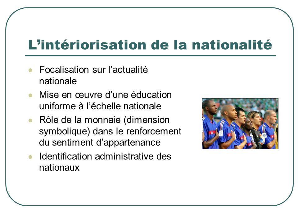 L'intériorisation de la nationalité