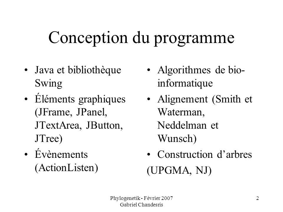 Conception du programme