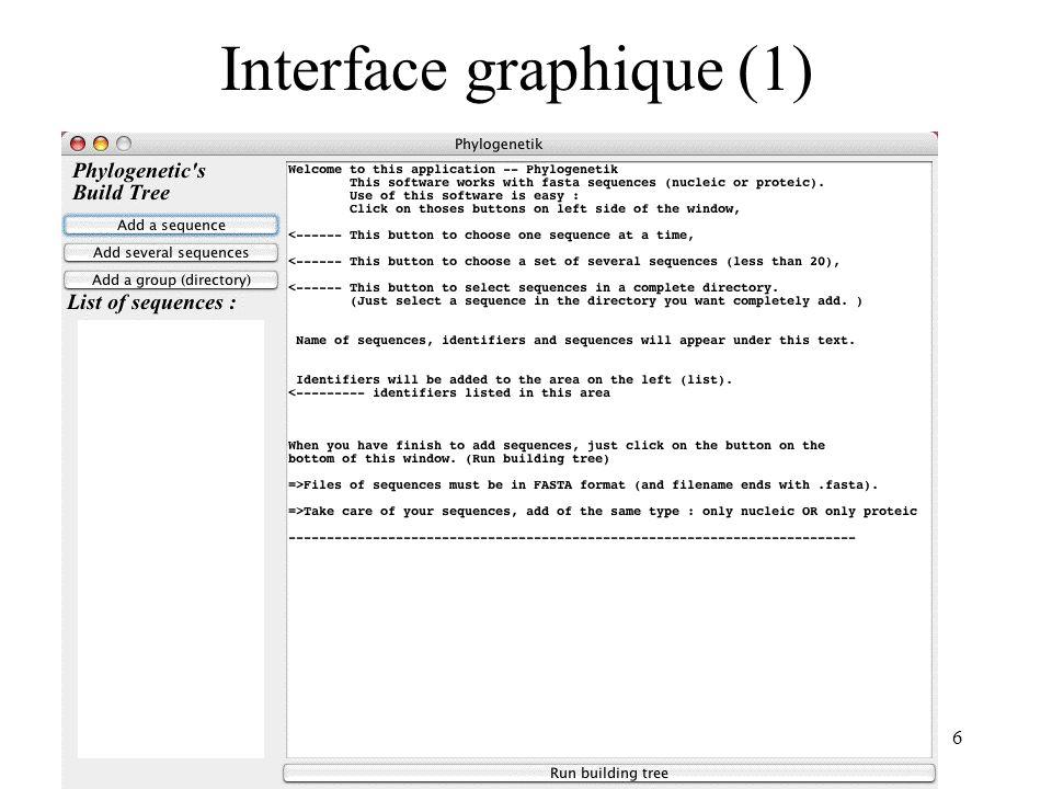 Interface graphique (1)