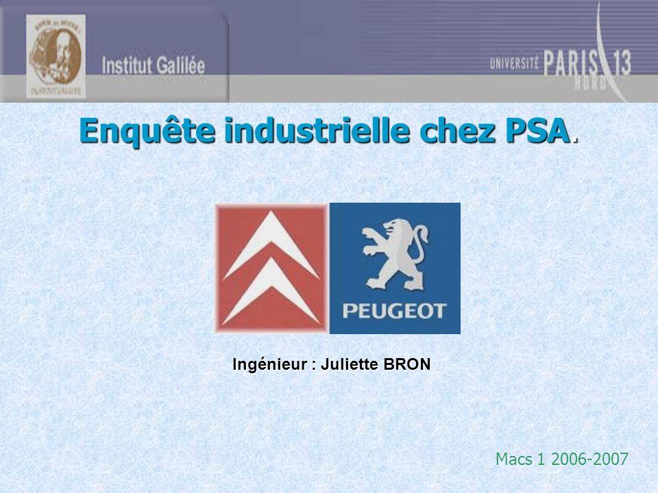 Enquête industrielle chez PSA.