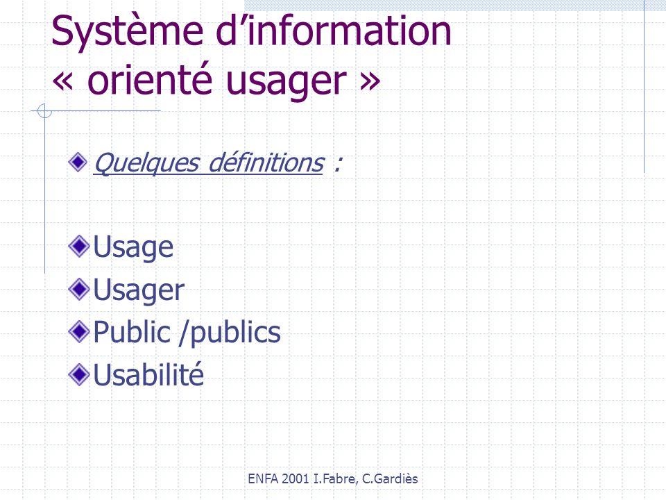 Système d'information « orienté usager »