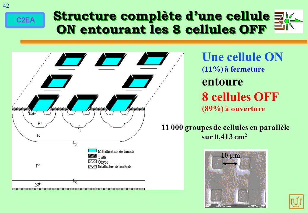 Structure complète d'une cellule ON entourant les 8 cellules OFF
