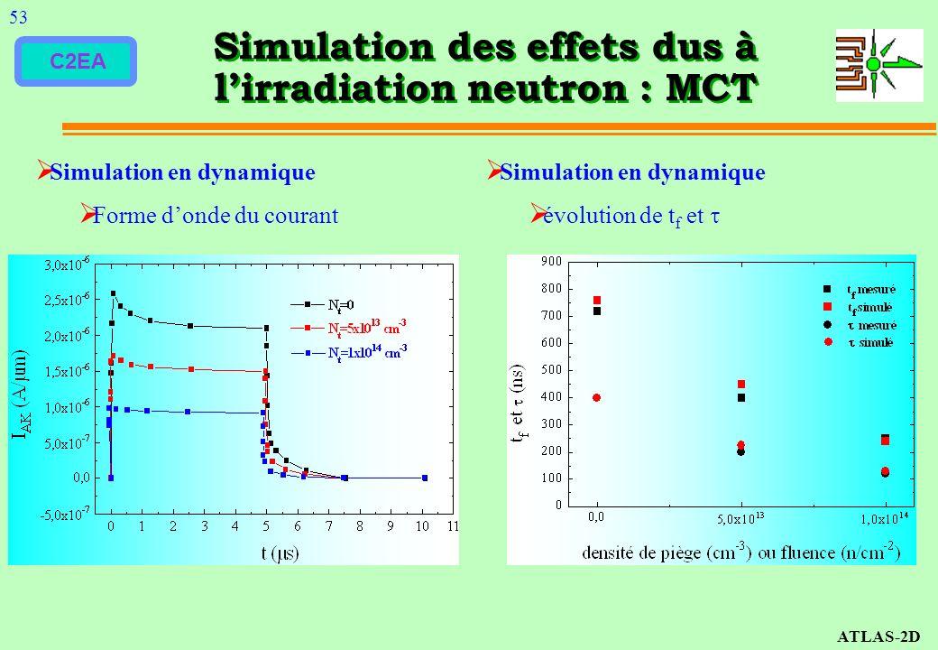 Simulation des effets dus à l'irradiation neutron : MCT