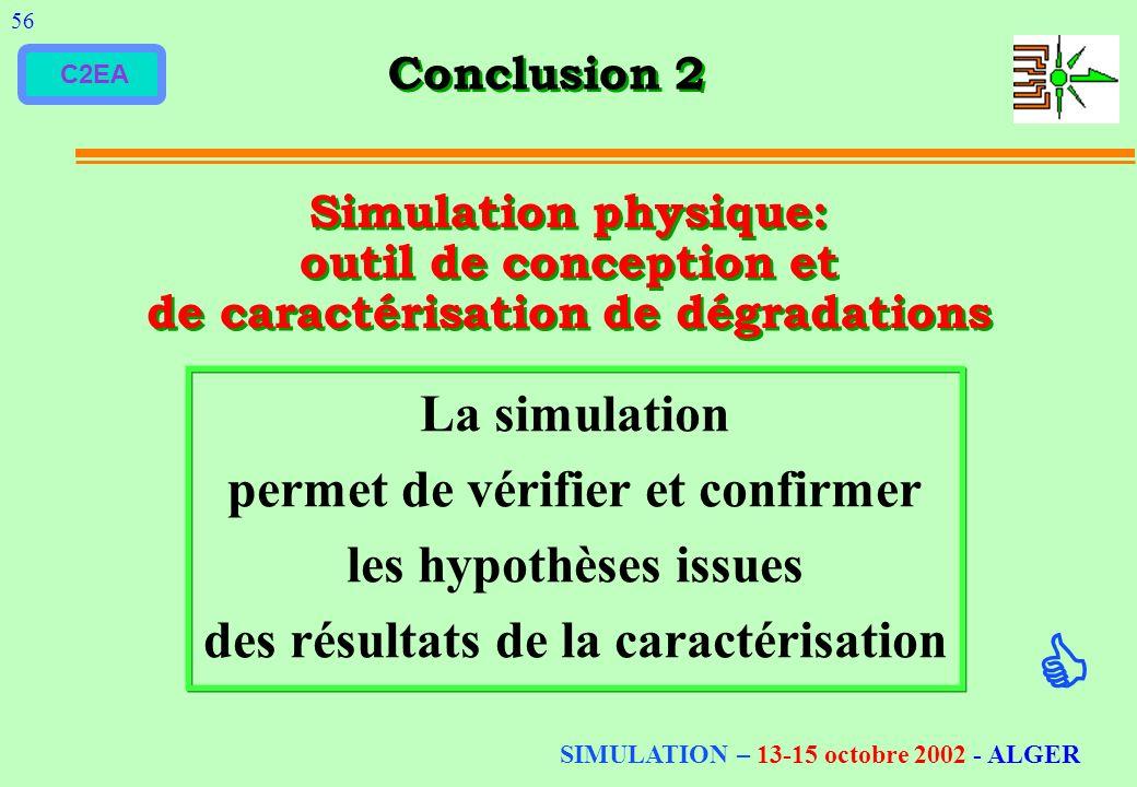  La simulation permet de vérifier et confirmer